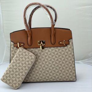 Handbags - 2pc Tote handbag Purse With Matching Wallet